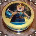 63 Tort z motywem Lego Chima Laval z mieczem  Laval Sword cake
