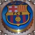 67 Tort Herb Fc Barcelona na opłatku jadalnym