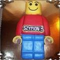 72 Tort Lego postać 2D klocek przestrzenny