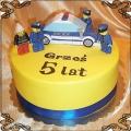 78 Tort Lego Policja z policjantami i strażakiem dla Grzesia