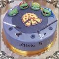 83 Tort wojownicze zółwie Ninia z pizza