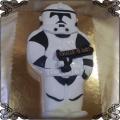 85 Tort żołnierz Wielkiej Armii Republiki biały klon 2D , Star Wars