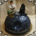 86 Tort gwiazda śmierci star wars lord Vader i Luke Skywalker figurki z lukru