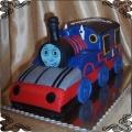 9 Tort Lokomotywa Tomek 3D na urodziny 2,7kg, parowóz Tomek i przyjaciele