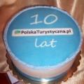 29 Tort firmowy dla firmy z branży turystycznej Krakowskie Torty Artystyczne Cukiernia Kraków