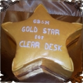 35 Tort złota gwiazda pięcioramienna