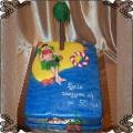 102 Tort z palmą wyspa na pięćdziesiąte urodziny dziewczyny kobiety