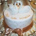125 Tort na rocznicę z łabędziami rocznicowy