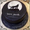 128 Tort księżyc w nowiu  new moon z wilkiem