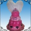 15 Tort na osiemnastkę różowy z piórami Torty artystyczne Kraków Cukiernia Pod Arkadami