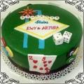 21 Tort ala Las Vegas na dwudziestą piątą rocznicę ślubu Torty artystyczne Kraków Cukiernia Pod Arkadami