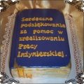 54 Tort praca inżynierska Torty artystyczne Kraków Cukiernia Pod Arkadami