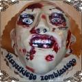66 Tort na Halloween głowa zombie z lukru