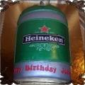 94 Tort piwo heineken keg beczka piwa