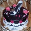 99 Tort z białym butem szpilka na trzydzieste urodziny