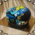 106 Tort kask na motor ręcznie malowany  sport