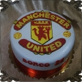 107 Tort Menchester United logo na płasko sport piłka