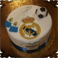 114 Tort Real Madryt herb logo piłka sport szalik kibica