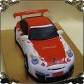 133 Tort w kształcie samochodu Porsche przestrzenny Kraków auto wyścigowe rajdy