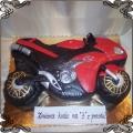 24 Tort czerwony motor Yamaha R1 czerwony przestrzenny 3D