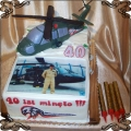 25 Tort na czterdzieste urodziny z helikopterem Torty artystyczne Kraków