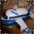 56 Tort w kształcie samolotu pasażerskiego