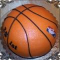 62 Tort w kształcie pomarańczowej piłki do koszykówki NBA