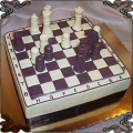 70 Tort szachownica z szachami przestrzenny