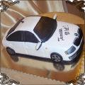 71 Tort biała skoda przestrzenny tort urodzinowy