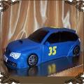 73 Tort niebieskie auto Subaru Impreza na 35 urodziny