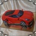 99 Tort Ferrari 488 gtb czerwone auto sportowe  przestrzenne