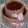 13 Tort okolicznościowy z biszkopcikami i świeżymi owocami sezonowy Cukiernia Pod Arkadami Kraków
