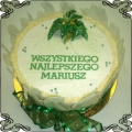15 Tort na imieniny w dekoracji z białej czekolady Cukiernia Pod Arkadami Kraków