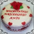 18 Tort na urodziny z falbankami i różami Cukiernia Pod Arkadami Kraków