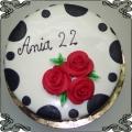 43 Tort na dwudzieste drugie urodziny w łaty Cukiernia Pod Arkadami Kraków