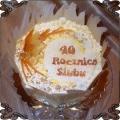 58 Tort okolicznościowy na czterdziestą rocznicę ślubu