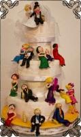 2 Tort na ślub z ręcznie robionymi figurkami ludzi Krakowskie Torty Artystyczne Cukiernia Kraków