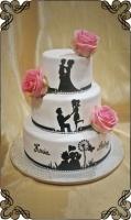 27 tort namalowana historia miłosna żywe kwiaty