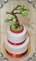 36 tort styl angielski drzewko szczęścia