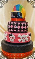 59 tort weselny punk rock czaszki metal