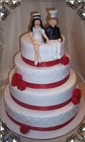 62 tort weselny artystyczny  z pielęgniarką  i kucharzem