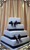12 tort weselny kwadratowy klasyczny asymetryczny