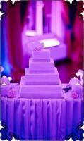 20 klasyczny biały tort weselny kwadratowy wstążki cekiny