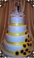 32 tort weselny słoneczniki z lukru
