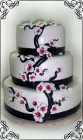 56 Tort weselny z lukrowymi gałązkami na torcie Krakowskie Torty Artystyczne Cukiernia Kraków