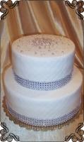 60 tort zaręczynowy na zaręczyny z perełkami dwa poziomy