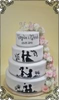 64 tort historia miłosna z żywymi kwiatami