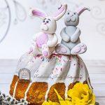 Wielkanocna babka z zajączkami