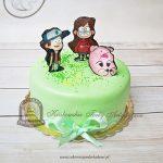 Tort z postaciami z bajki Wodogrzmoty Małe_Dipper Mabel Naboki
