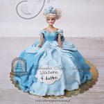 Tort z lalką Kopciuszek Cinderella